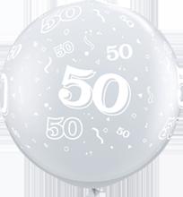 90 cm ballon Qualatex 50 crystal diamond clear