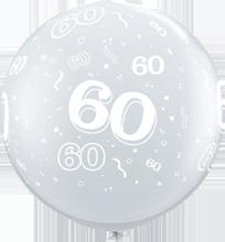 90 cm ballon Qualatex 60 crystal diamond clear