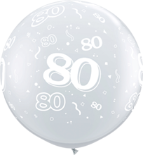 90 cm ballon Qualatex 80 crystal diamond clear