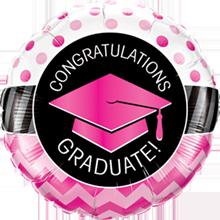 46 cm folieballon Qualatex congratulations graduate! roze