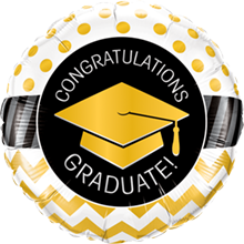 46 cm folieballon Qualatex congratulations graduate! goud