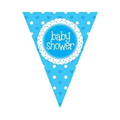 Vlaglijn baby shower Blue
