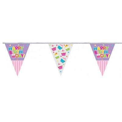 Vlaglijn Happy birthday cupcake