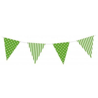 Vlaglijn Streepjes en stippen Groen