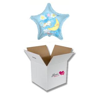 Mooideco - Ballonnenpost geboorte It's a boy blauw