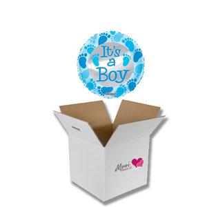 Mooideco - Ballonnenpost geboorte It's a boy blue