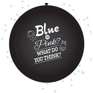 mooideco - gender reveal ballon boy blauw