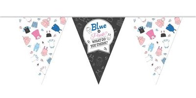 Mooideco - Vlaglijn gender reveal 10 meter blue or pink what do you think?