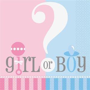 Mooideco - Servetten gender reveal girl or boy