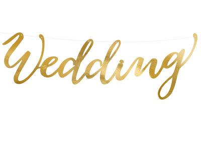 Mooideco - Banner wedding goud